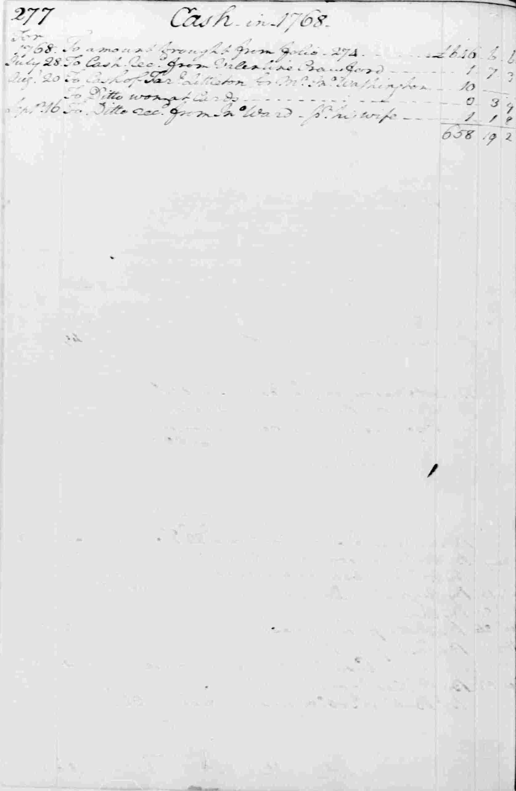 Ledger A, folio 277, left side