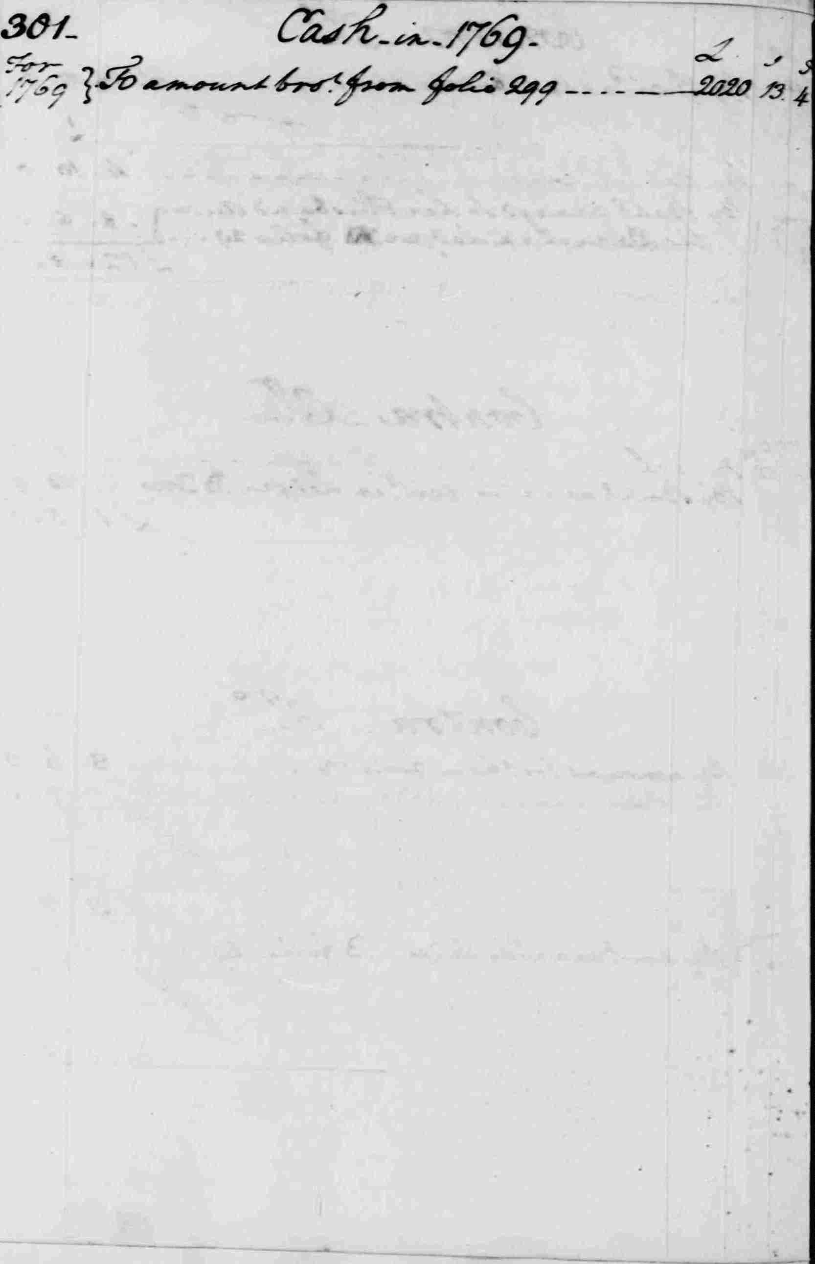 Ledger A, folio 301, left side