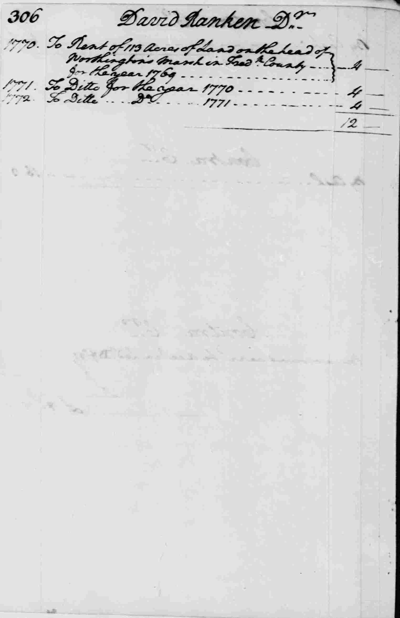 Ledger A, folio 306, left side