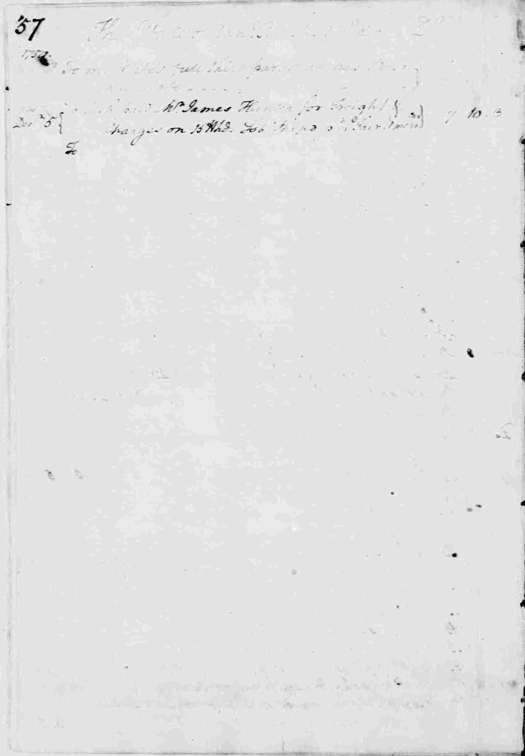 Ledger A, folio 57, left side