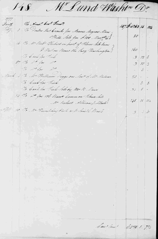 Ledger B, folio 148, left side