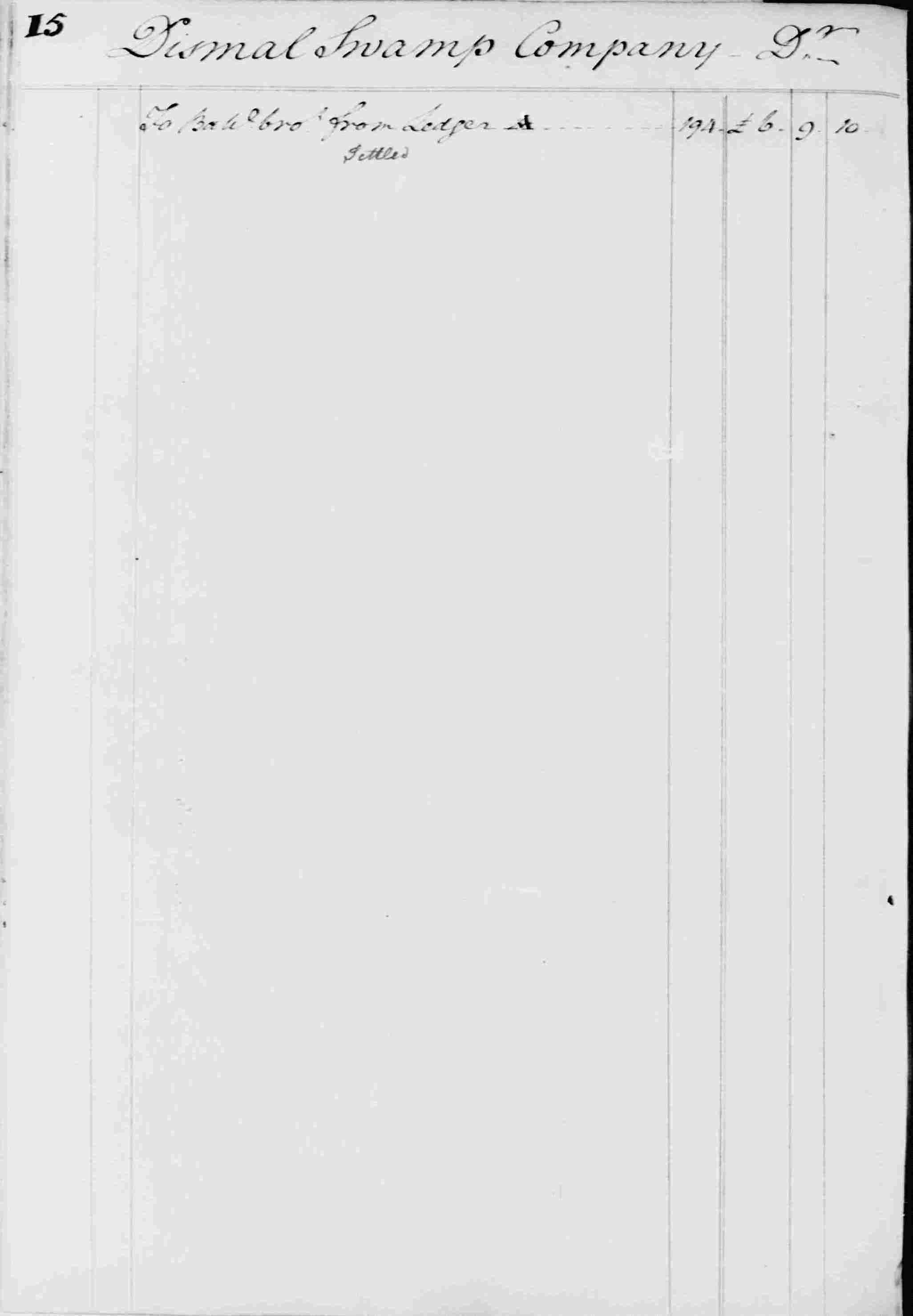 Ledger B, folio 15, side left
