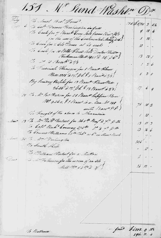 Ledger B, folio 151, left side