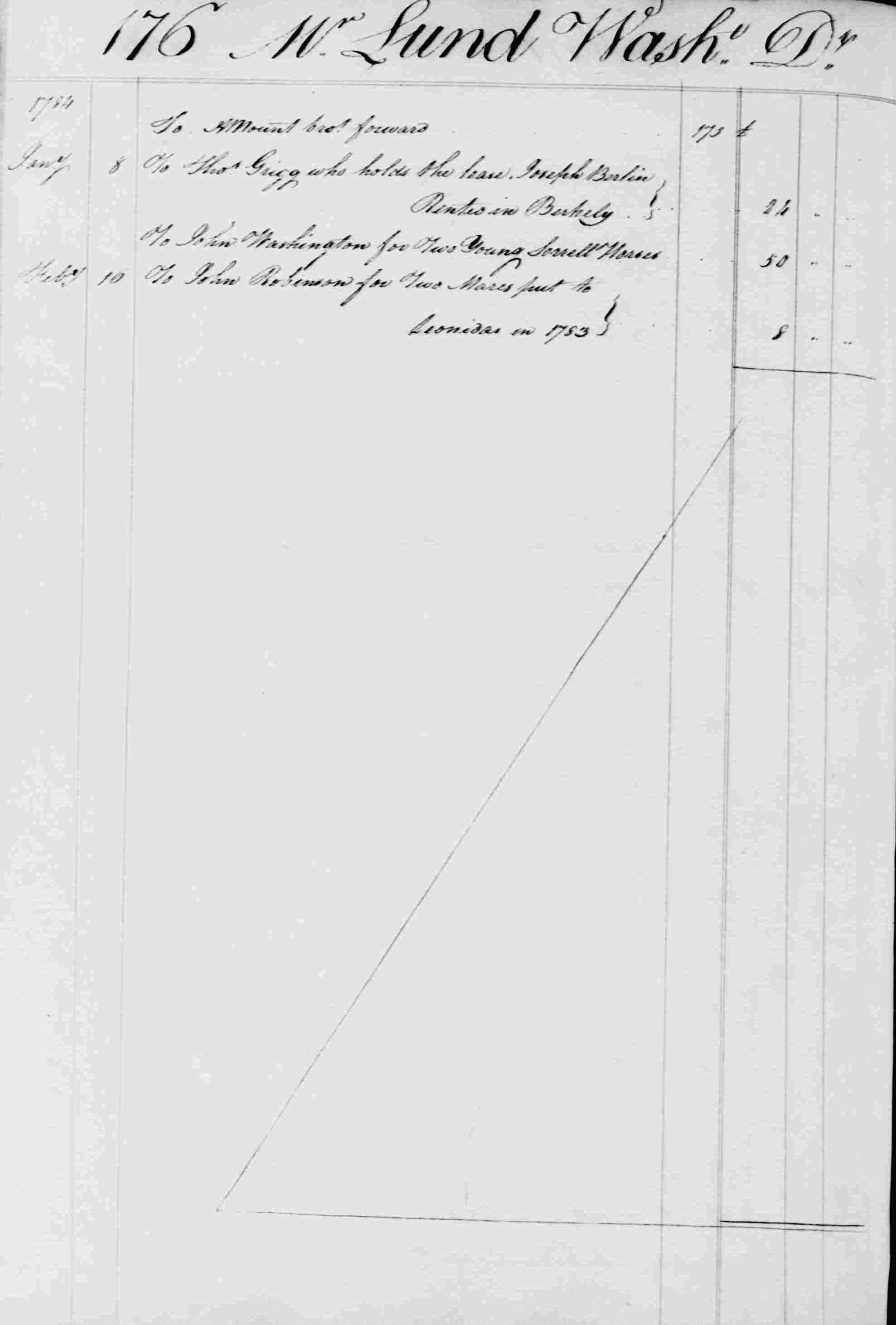 Ledger B, folio 176, left side