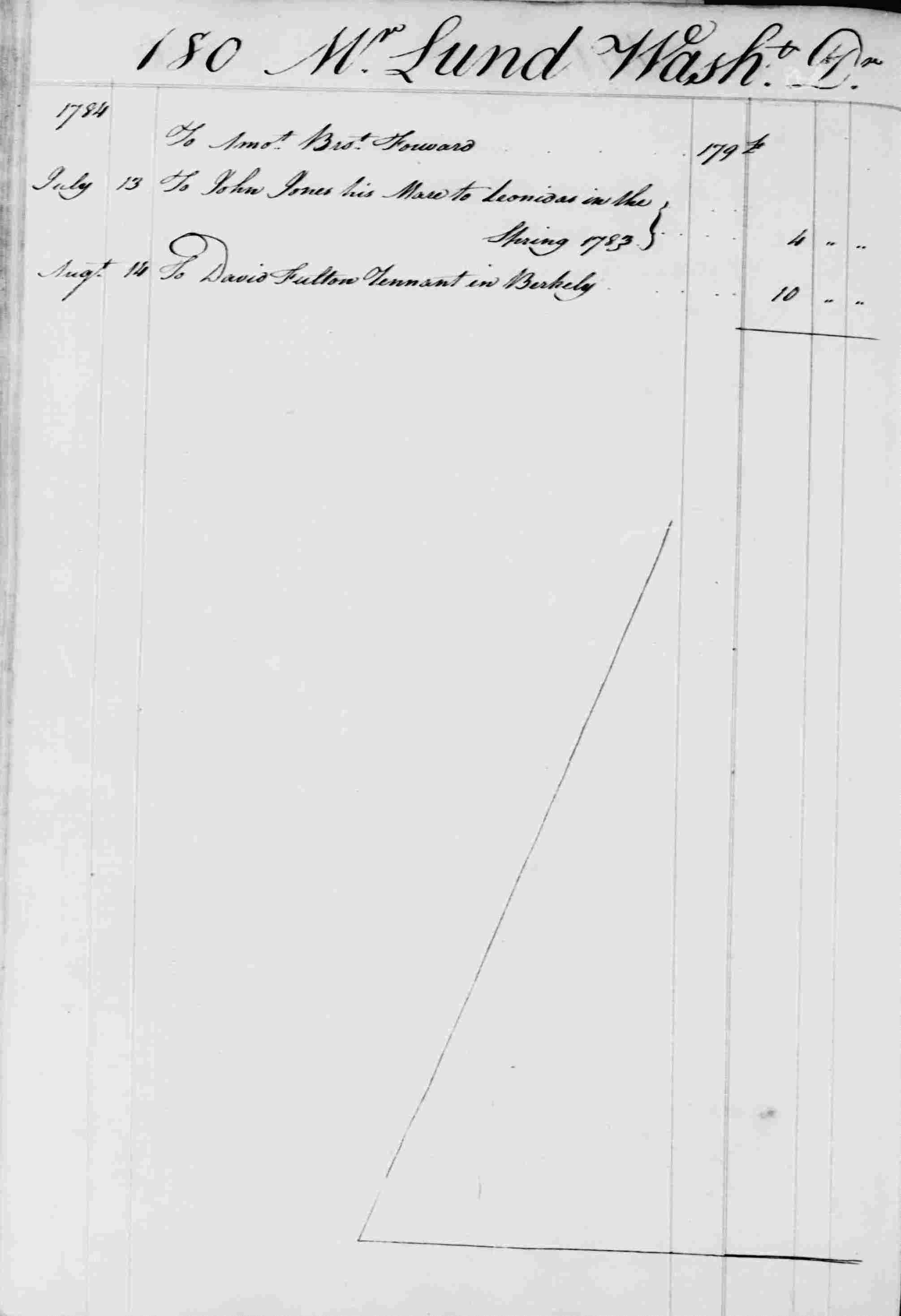 Ledger B, folio 180, left side