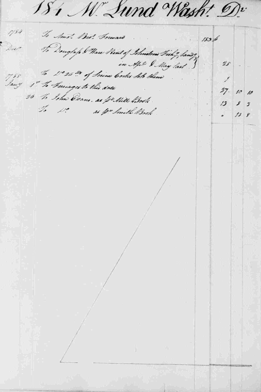 Ledger B, folio 184, left side
