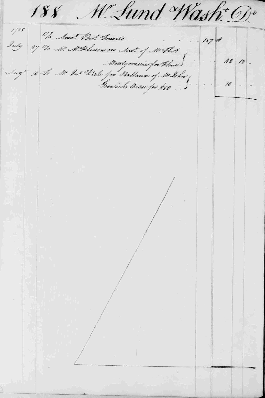 Ledger B, folio 188, left side