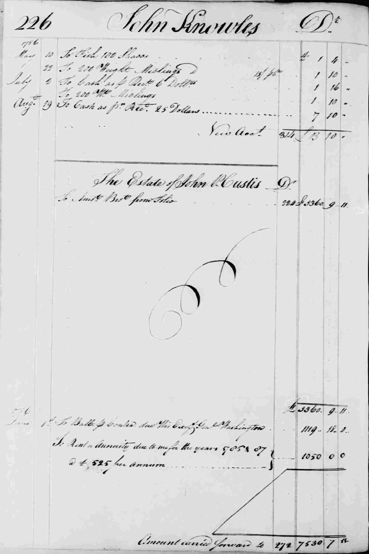 Ledger B, folio 226, left side