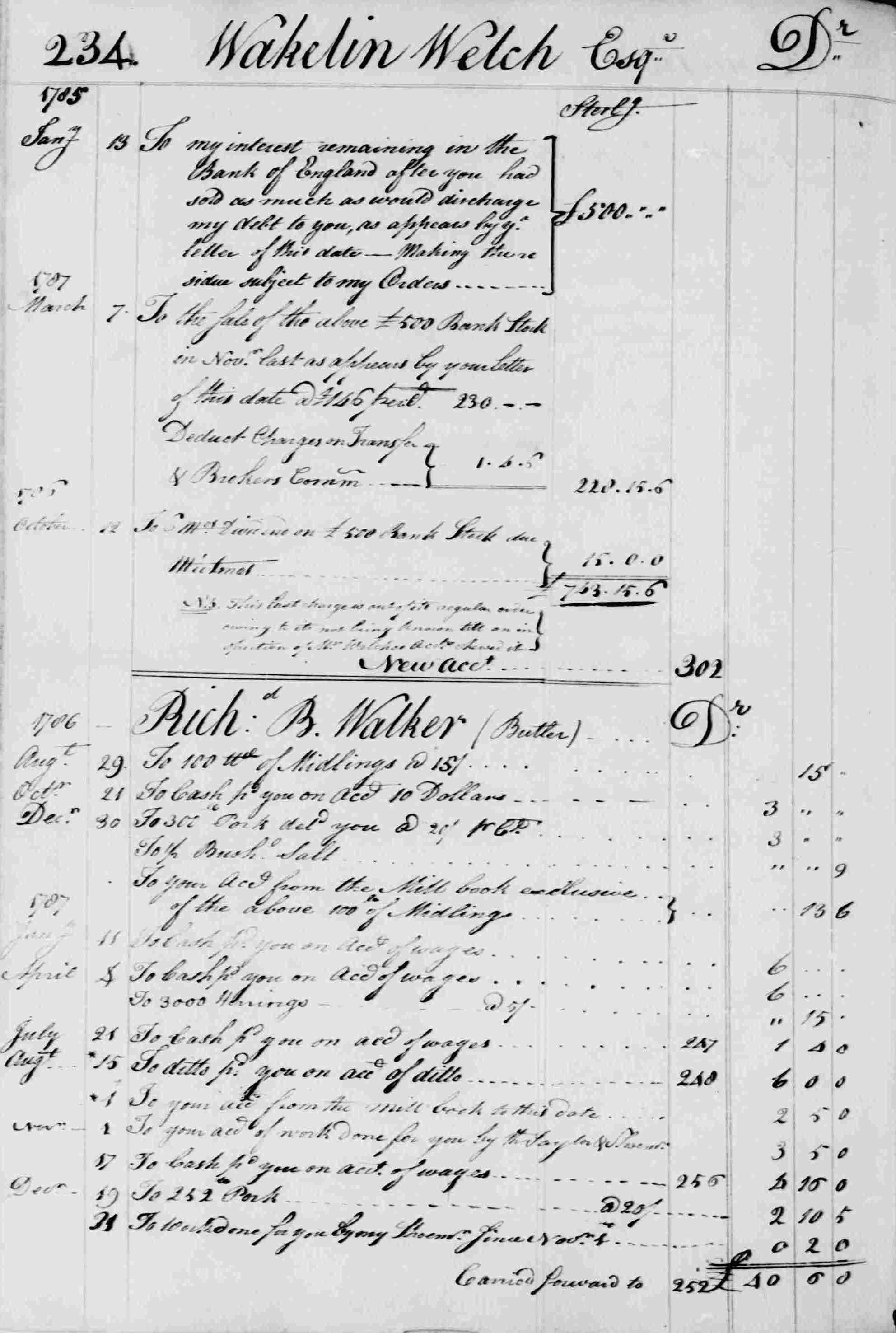 Ledger B, folio 234, left side