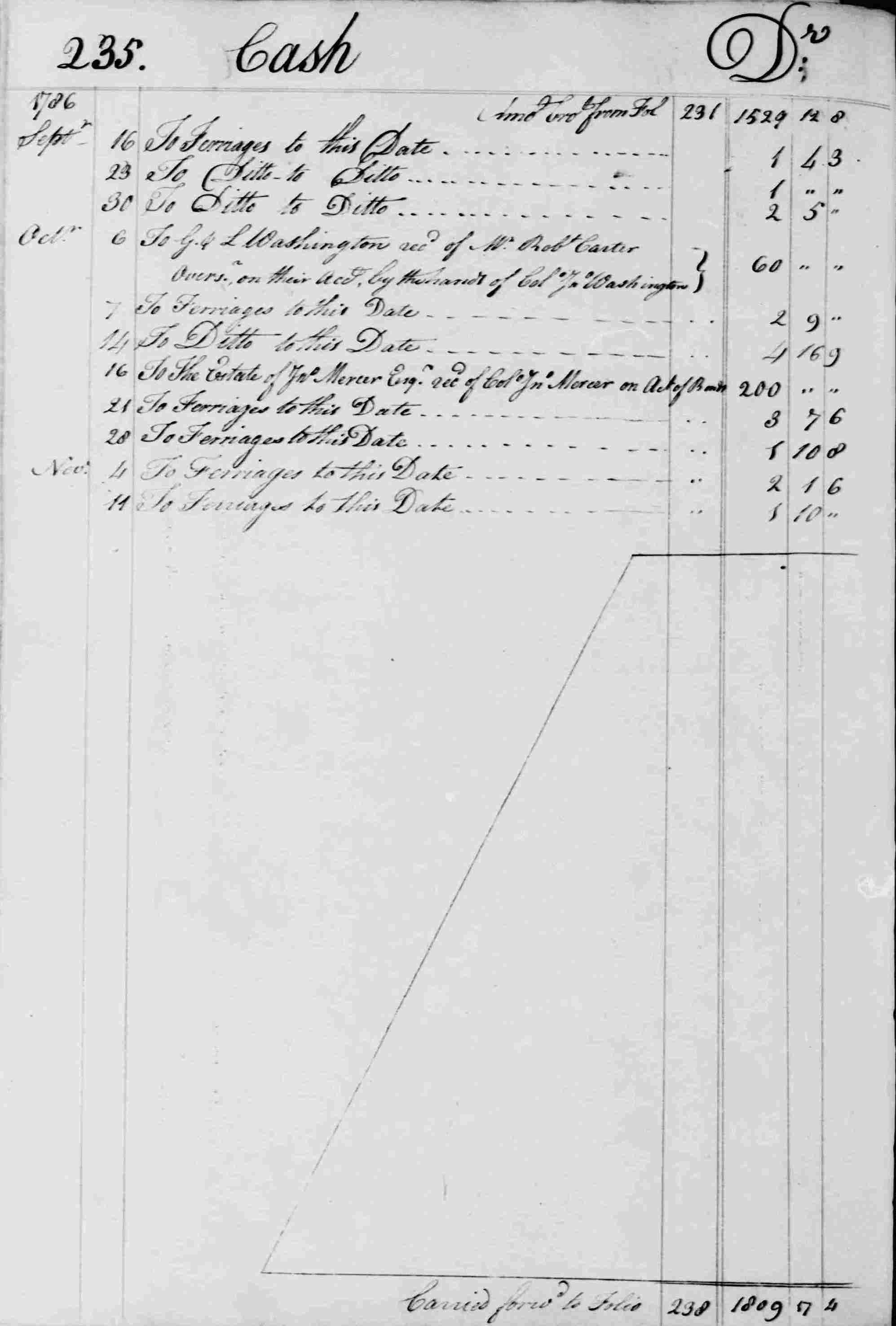 Ledger B, folio 235, left side