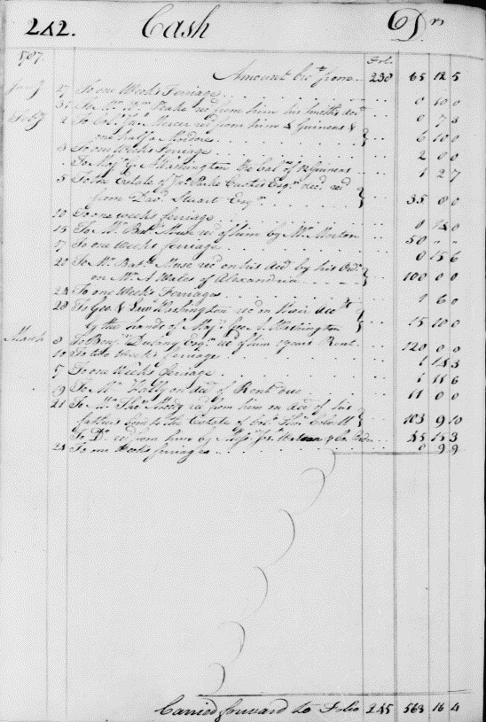 Ledger B, folio 242, left side