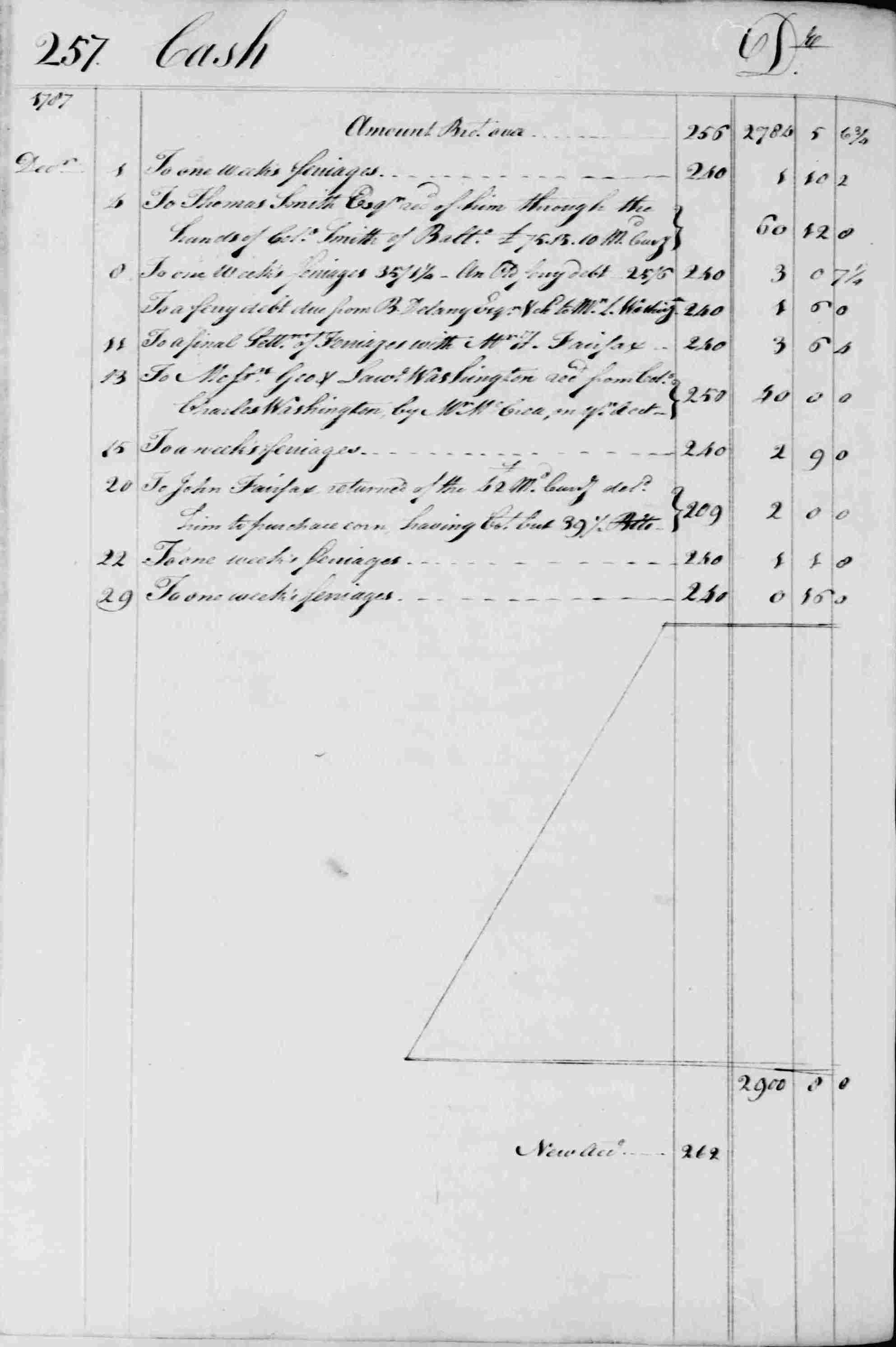 Ledger B, folio 257, left side
