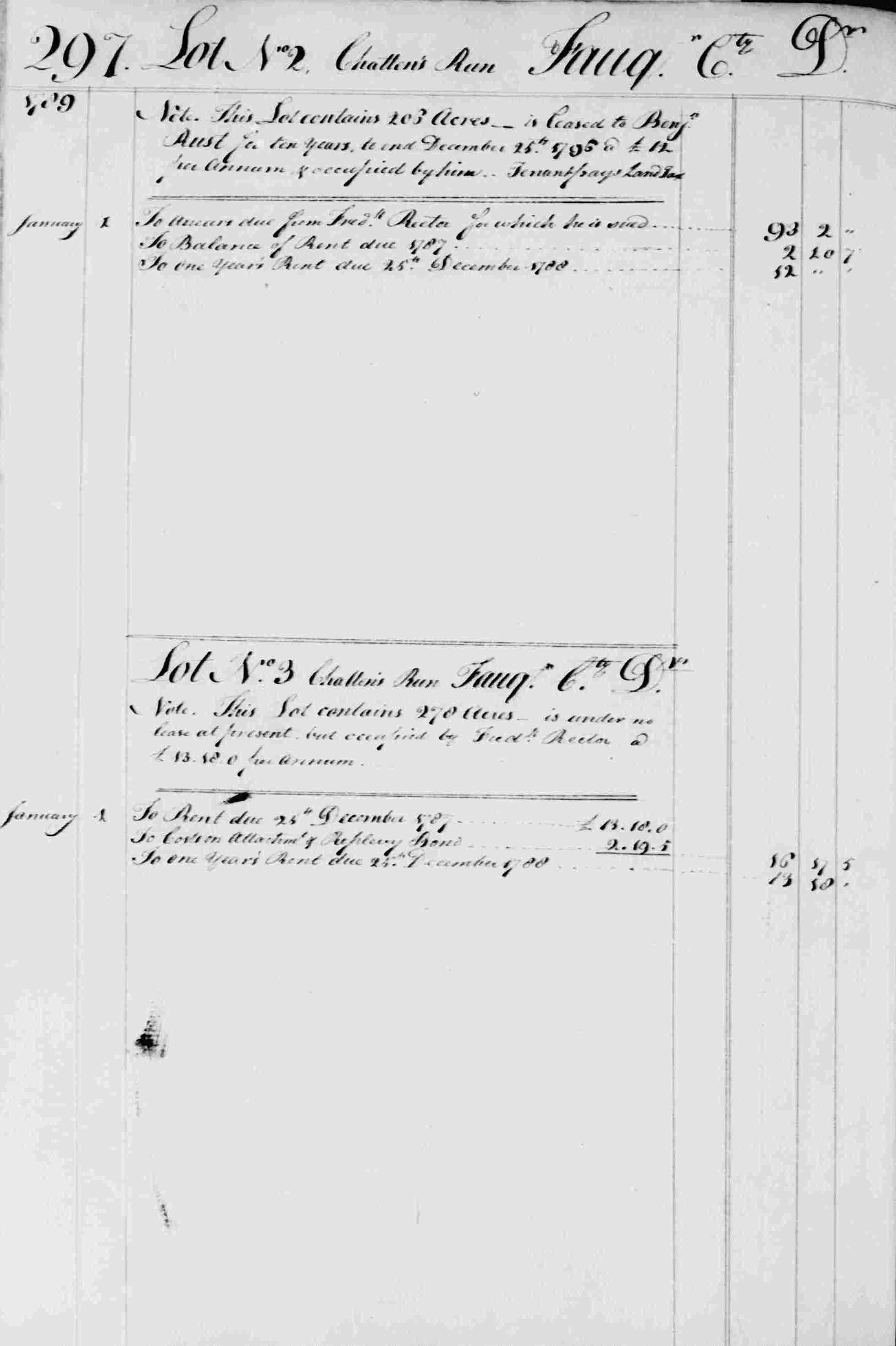 Ledger B, folio 297, left side