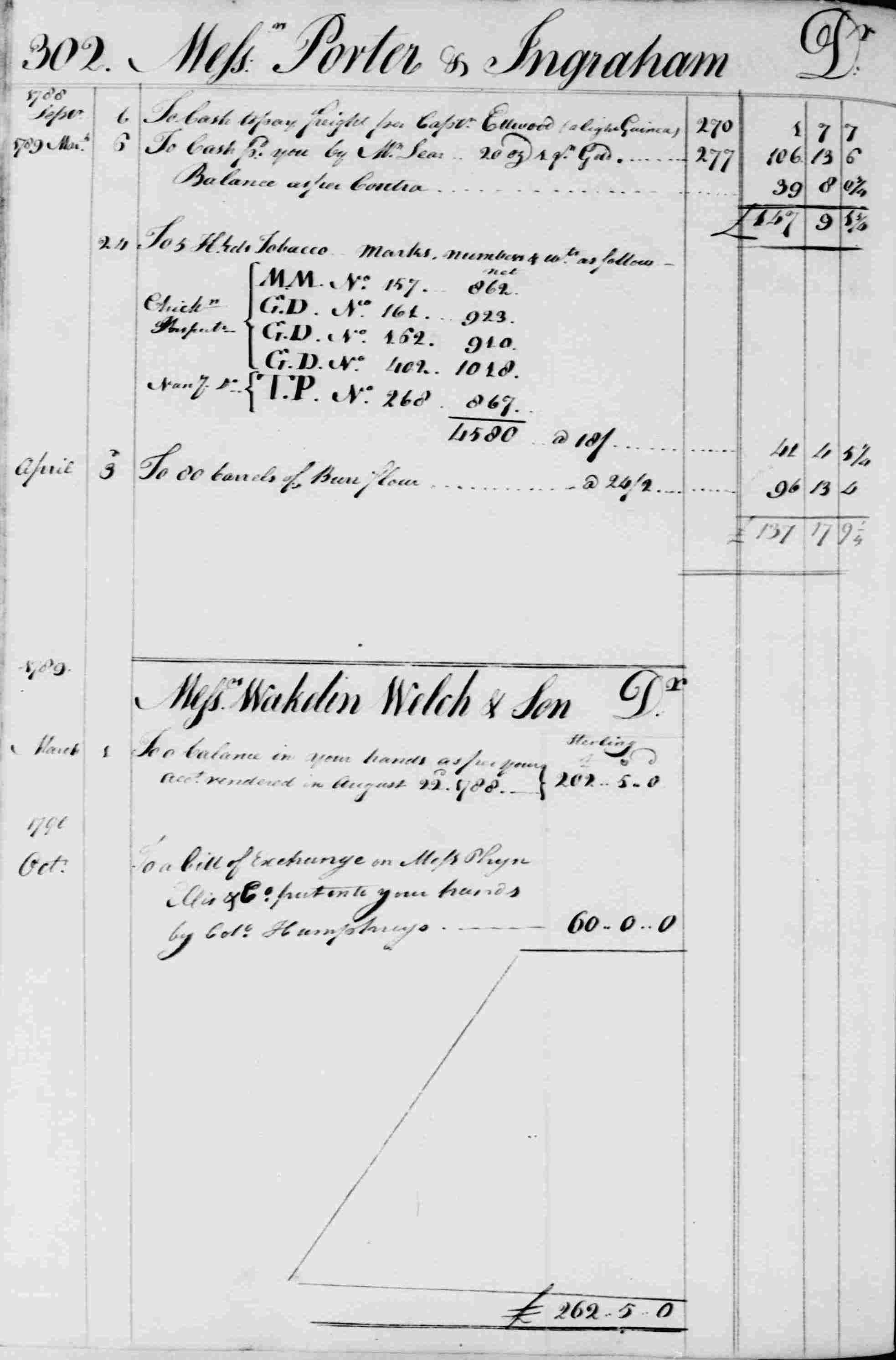 Ledger B, folio 302, left side