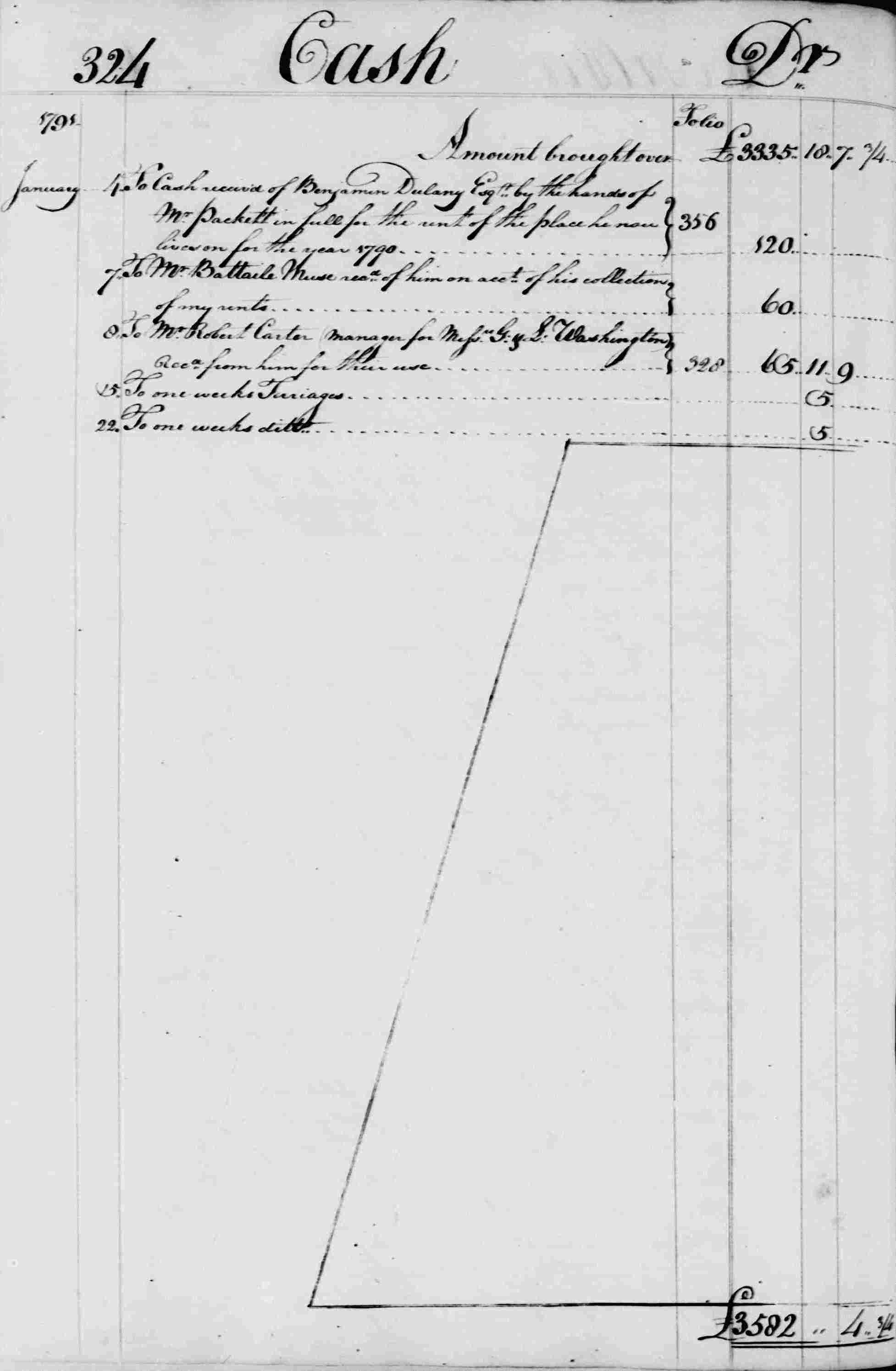 Ledger B, folio 324, left side
