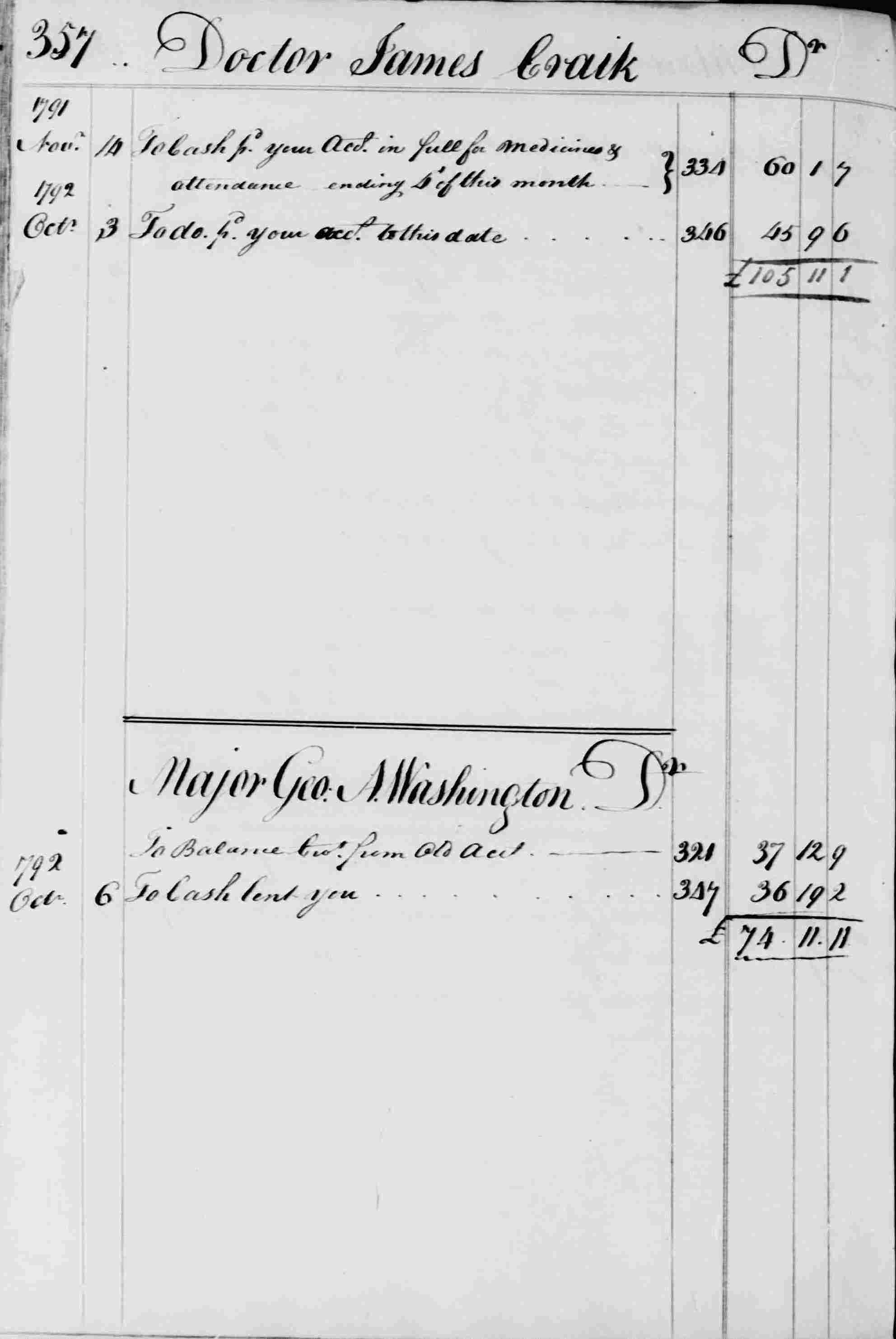 Ledger B, folio 357, left side