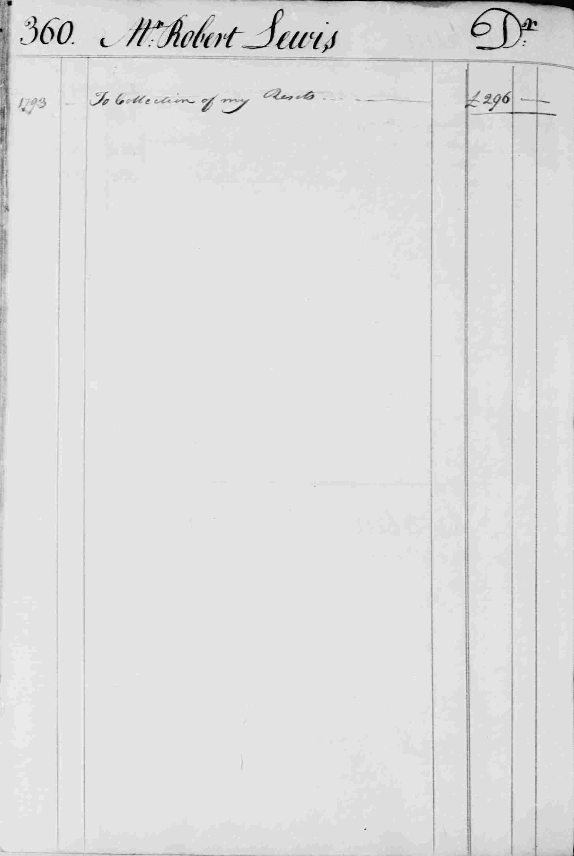 Ledger B, folio 360, left side