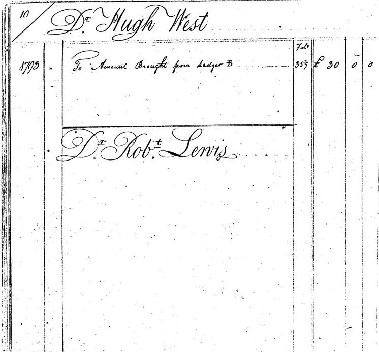 Ledger C, folio 10, left side