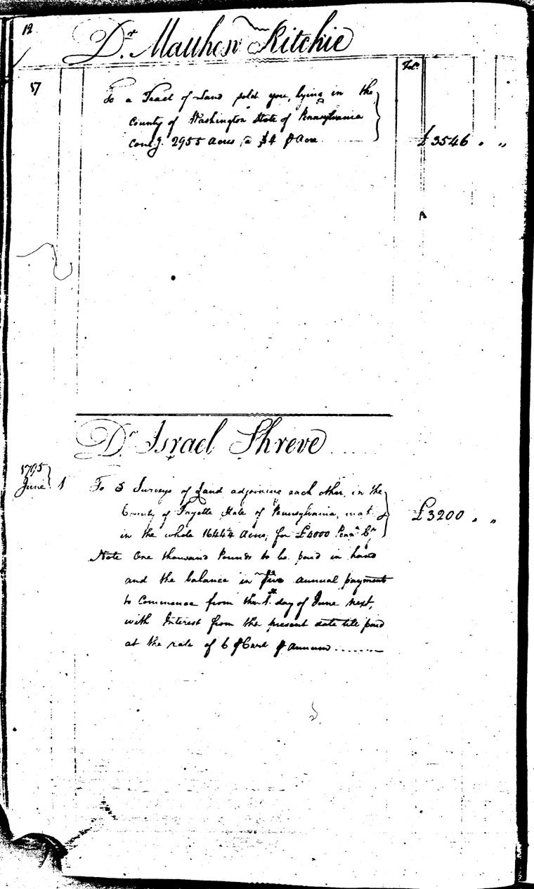 Ledger C, folio 12, left side