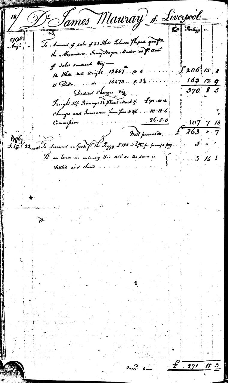 Ledger C, folio 18, left side