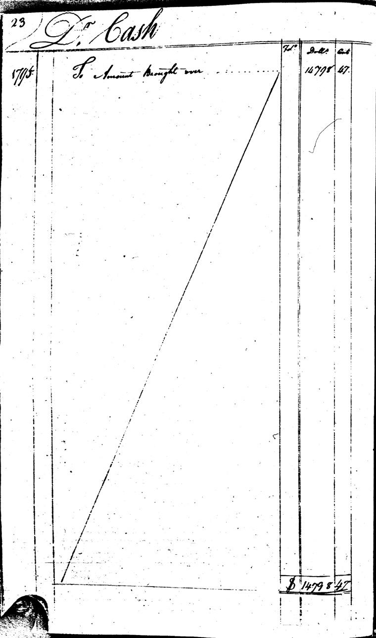 Ledger C, folio 23, left side