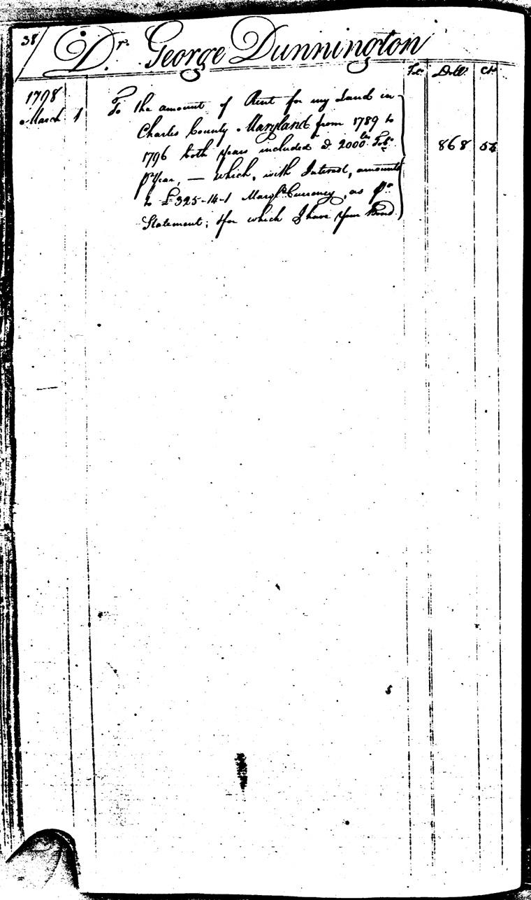Ledger C, folio 38, left side