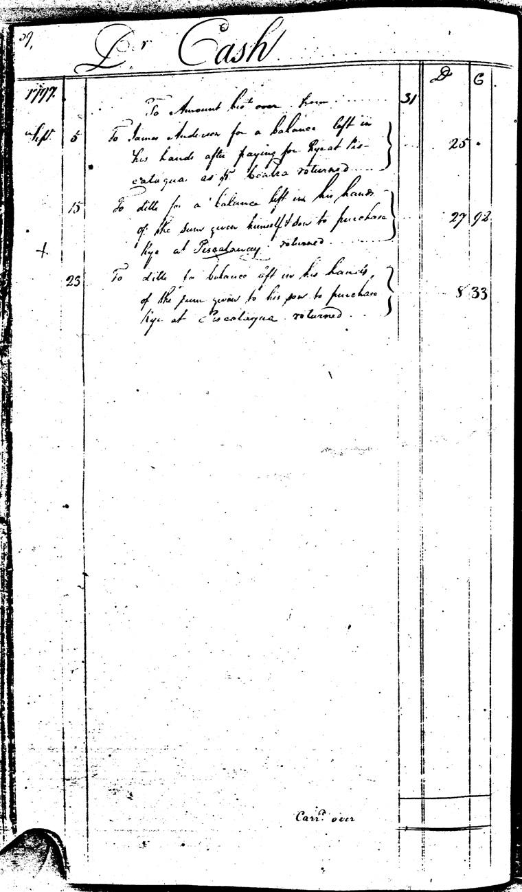 Ledger C, folio 39, left side
