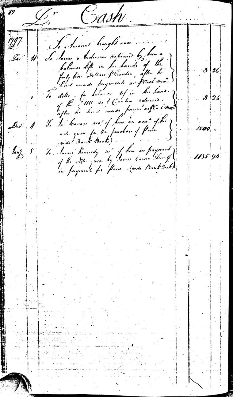 Ledger C, folio 42, left side