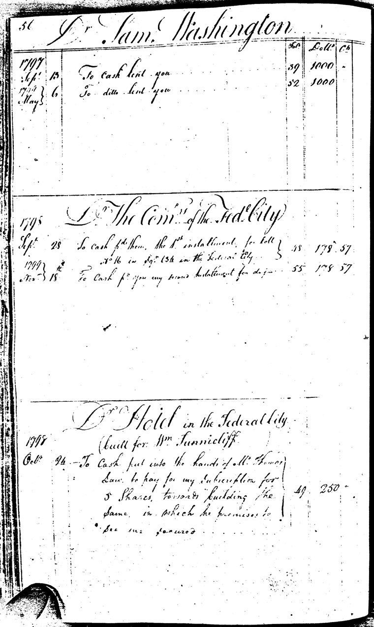 Ledger C, folio 56, left side
