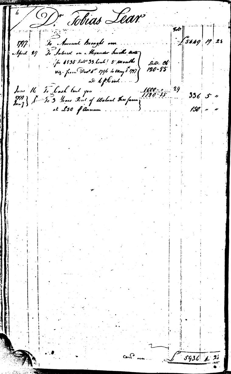 Ledger C, folio 6, left side