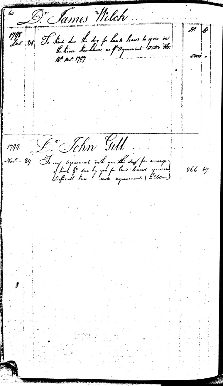 Ledger C, folio 60, left side