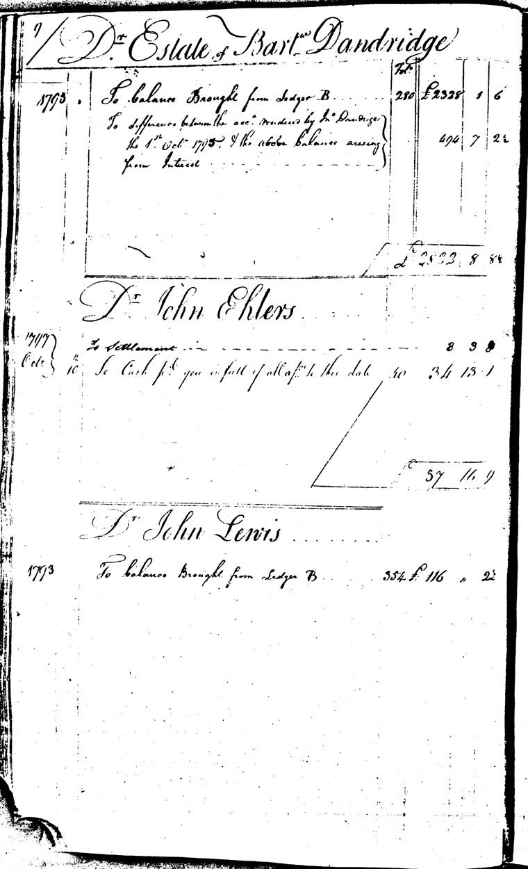 Ledger C, folio 9, left side