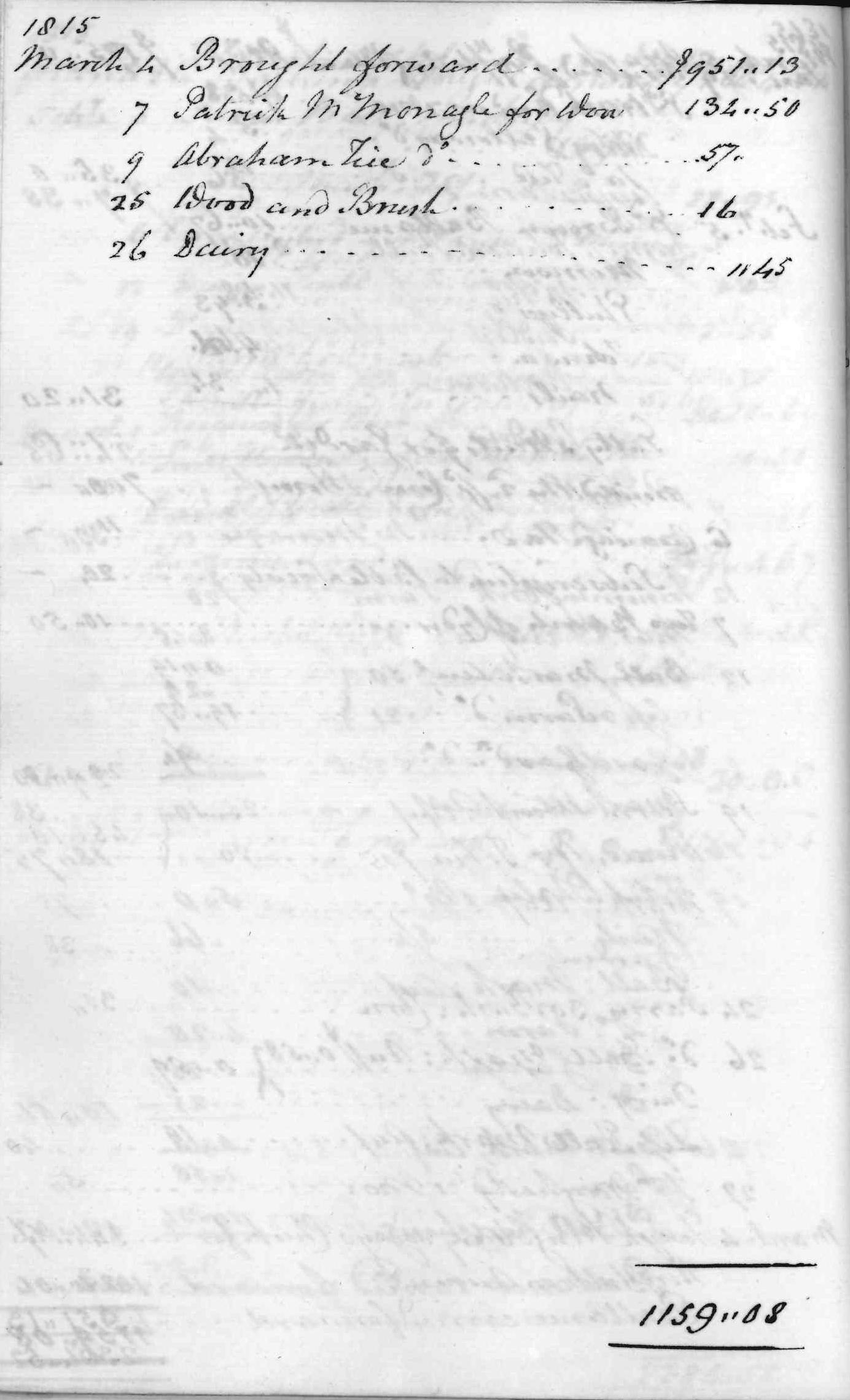 Gouverneur Morris Cash Book, folio 39, left side